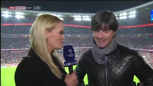 Joachim Löw half-time interview – Bayern v Atletico 15-16 2