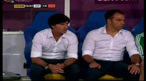 Joachim Löw & Hansi Flick – Germany v Portugal (EM 2012) 10
