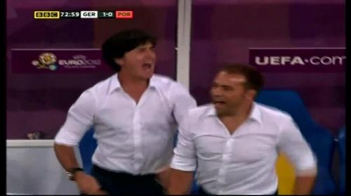 Joachim Löw & Hansi Flick – Germany v Portugal (EM 2012) 11