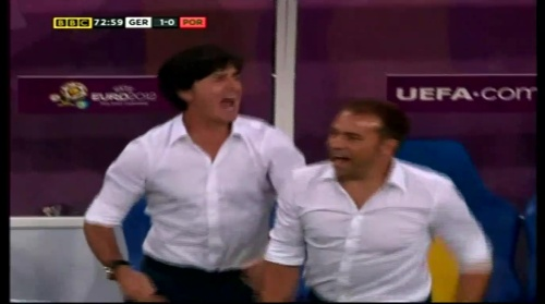 Joachim Löw & Hansi Flick – Germany v Portugal (EM 2012) 11