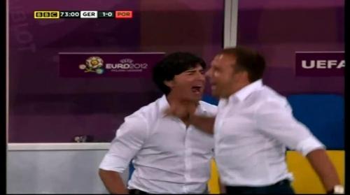 Joachim Löw & Hansi Flick – Germany v Portugal (EM 2012) 12