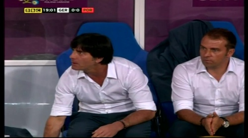 Joachim Löw & Hansi Flick – Germany v Portugal (EM 2012) 2