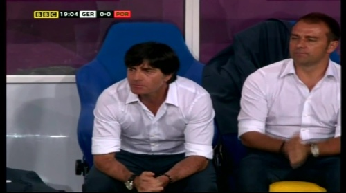 Joachim Löw & Hansi Flick – Germany v Portugal (EM 2012) 3