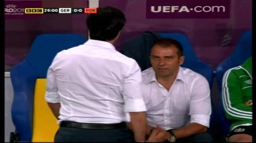 Joachim Löw & Hansi Flick – Germany v Portugal (EM 2012) 4