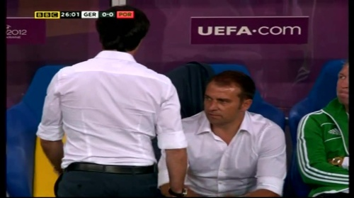 Joachim Löw & Hansi Flick – Germany v Portugal (EM 2012) 5