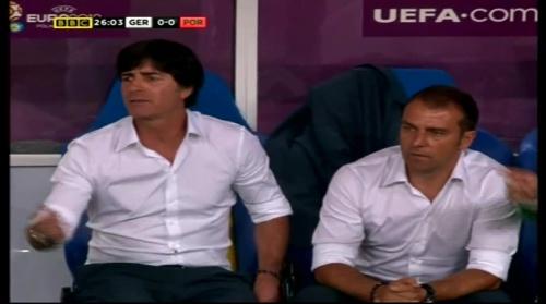 Joachim Löw & Hansi Flick – Germany v Portugal (EM 2012) 6