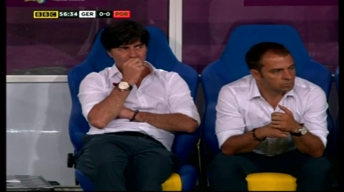 Joachim Löw & Hansi Flick – Germany v Portugal (EM 2012) 7