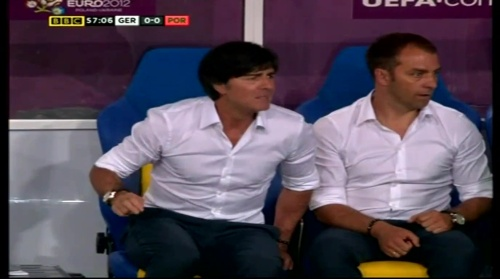 Joachim Löw & Hansi Flick – Germany v Portugal (EM 2012) 8