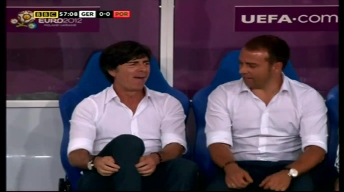 Joachim Löw & Hansi Flick – Germany v Portugal (EM 2012) 9