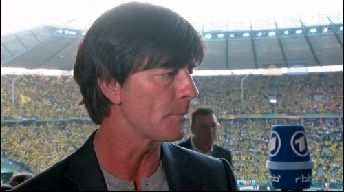 Joachim Löw pre-match interview - Bayern München v Borussia Dortmund (DFB Pokal final 2015-16) 4