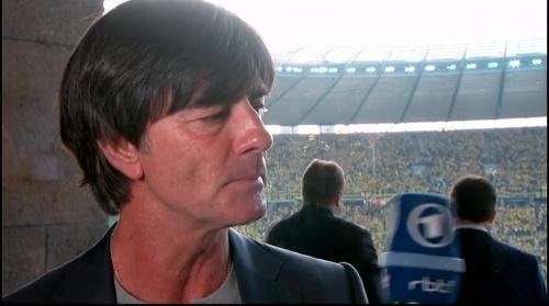 Joachim Löw pre-match interview - Bayern München v Borussia Dortmund (DFB Pokal final 2015-16) 5