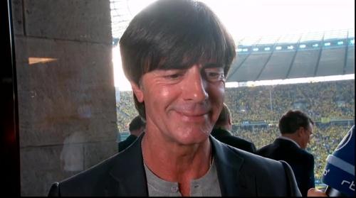 Joachim Löw pre-match interview - Bayern München v Borussia Dortmund (DFB Pokal final 2015-16) 7