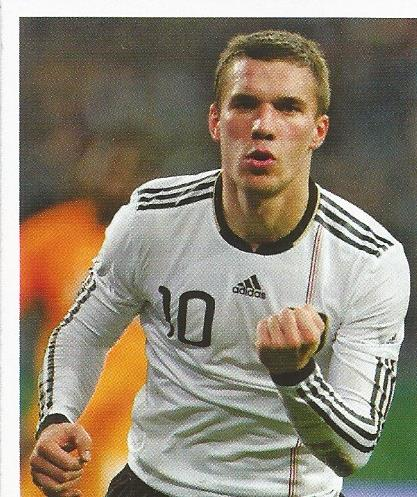 Lukas Podolski - Deutsche Nationalmannschaft 2010 sticker 2