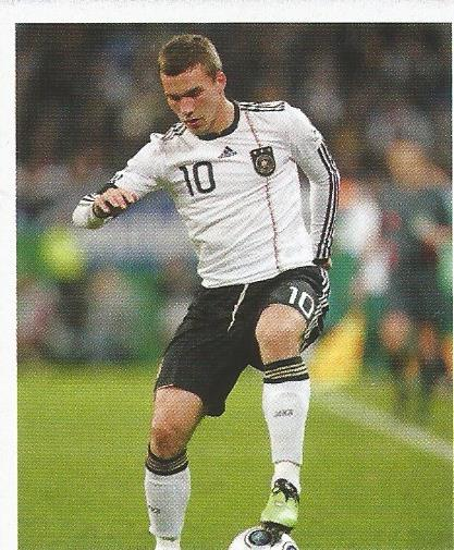 Lukas Podolski - Deutsche Nationalmannschaft 2010 sticker