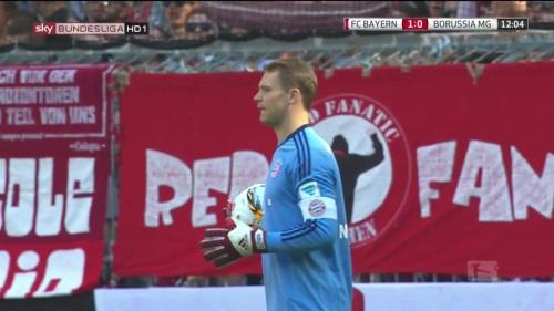 Manuel Neuer – Bayern v Gladbach 7