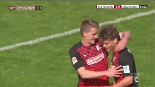 Nils Petersen & Florian Niederlechner - SC Freiburg v Heidenheim