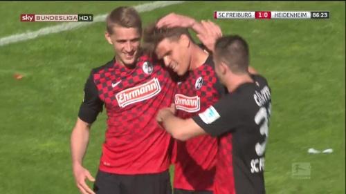 Petersen, Niederlechner & Günter – SC Freiburg v Heidenheim 1