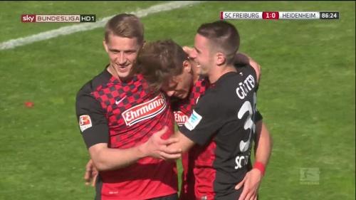 Petersen, Niederlechner & Günter – SC Freiburg v Heidenheim 2