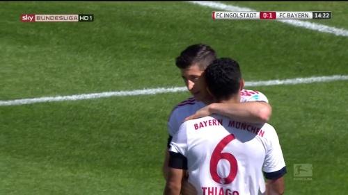 Robert Lewandowkski – Ingolstadt v Bayern 5