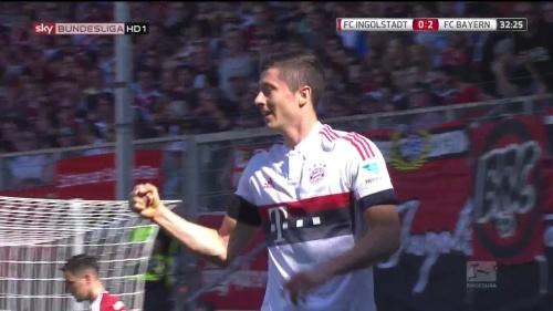Robert Lewandowkski – Ingolstadt v Bayern 6