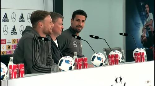 Sami Khedira & Benedikt Höwedes Pressekonferenz 31-05-16