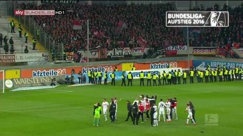 SC Freiburg celebrate promotion 2016 10