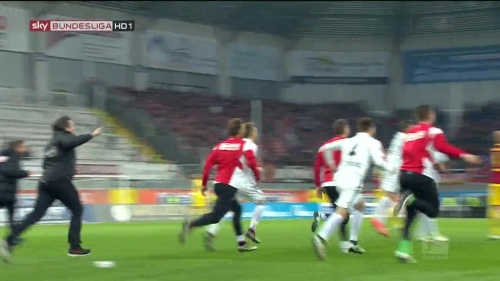 SC Freiburg celebrate promotion 2016 2