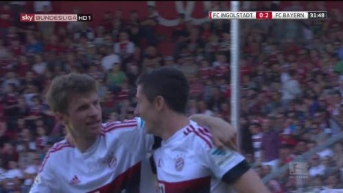 Thomas Müller & Robert Lewandowski – Ingolstadt v Bayern