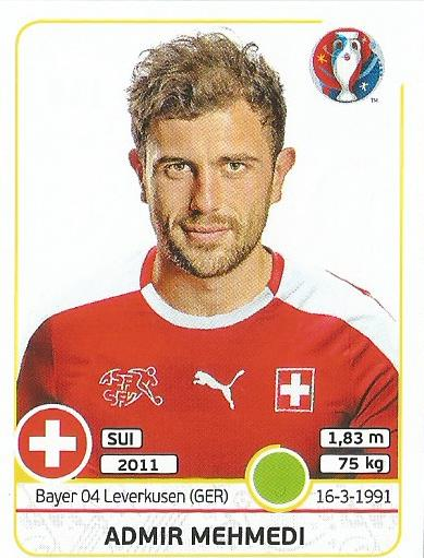Admir Mehmedi - Switzeland - Euro 2016 sticker