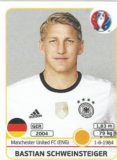 Bastian Schweinsteiger - Germany - Euro 2016 sticker