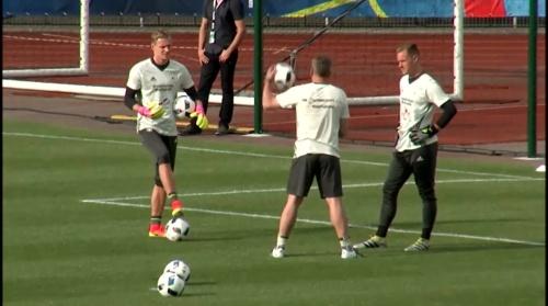 Bernd Leno & Marc-Andre ter Stegen - Training 1