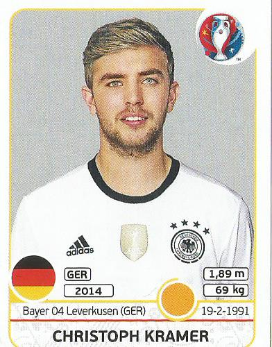 Christoph Kramer - Germany - Euro 2016 sticker