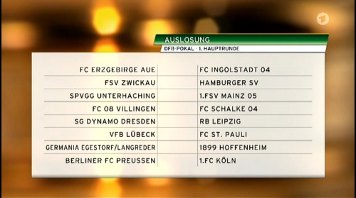 DFB Pokal – 1 Hauptrunde Auslosung 2015-16 3