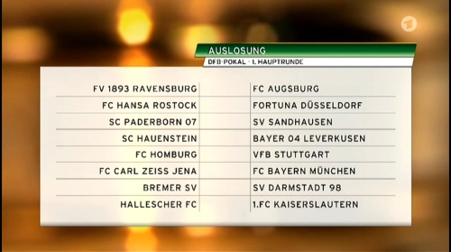 DFB Pokal – 1 Hauptrunde Auslosung 2015-16 4