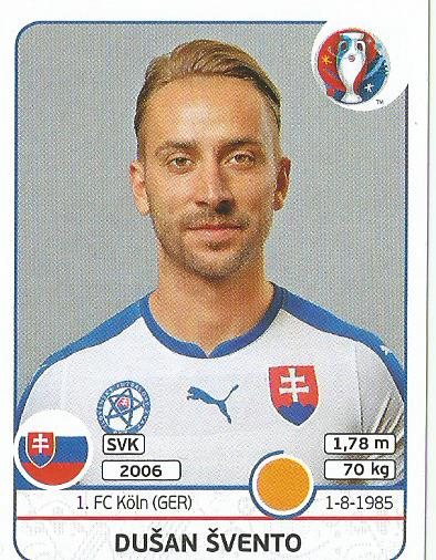 Dusan Svento - Slovakia - Euro 2016 sticker