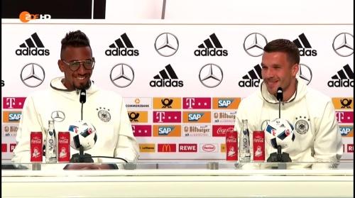 Jerome Boateng & Lukas Podolski – ZDF video 14-06-16 1