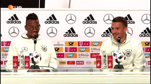 Jerome Boateng & Lukas Podolski – ZDF video 14-06-16 1