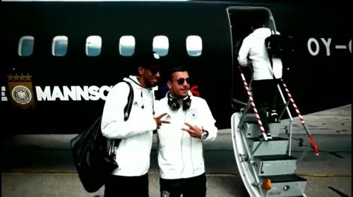 Jerome Boateng & Lukas Podolski - Vor Nordirland-Spiel - Anreise nach Paris