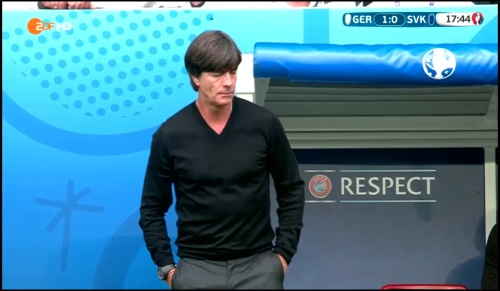 Joachim Löw - Deutschland v Slowakei 1st half (EM 2016) 15