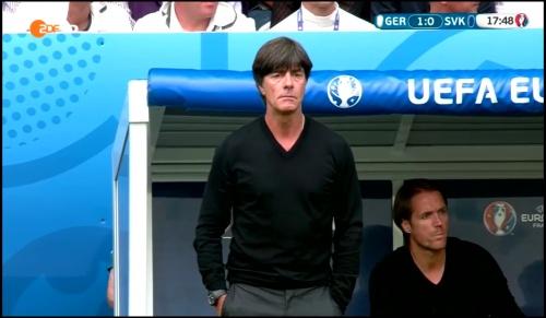 Joachim Löw - Deutschland v Slowakei 1st half (EM 2016) 16