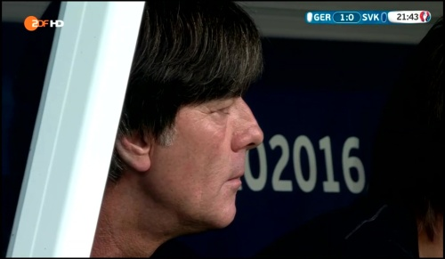 Joachim Löw - Deutschland v Slowakei 1st half (EM 2016) 17