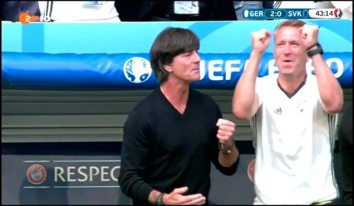 Joachim Löw - Deutschland v Slowakei 1st half (EM 2016) 21