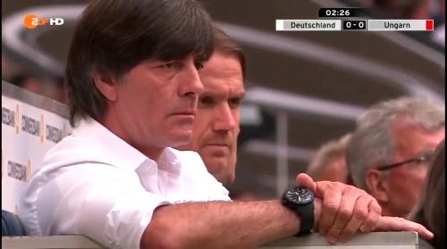 Joachim Löw – 1st half – Deutschland v Ungarn 11