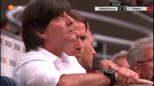 Joachim Löw – 1st half – Deutschland v Ungarn 12