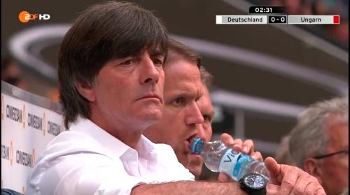 Joachim Löw – 1st half – Deutschland v Ungarn 13