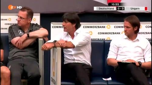 Joachim Löw – 1st half – Deutschland v Ungarn 14
