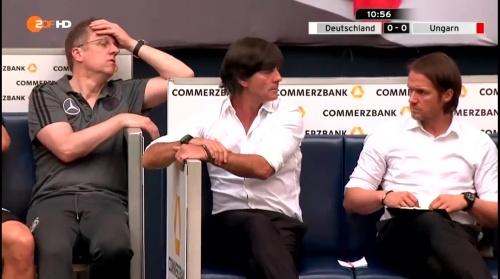 Joachim Löw – 1st half – Deutschland v Ungarn 15