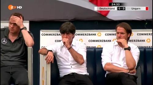 Joachim Löw – 1st half – Deutschland v Ungarn 16