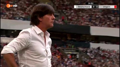 Joachim Löw – 1st half – Deutschland v Ungarn 17