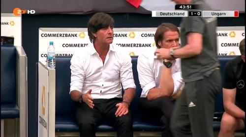 Joachim Löw – 1st half – Deutschland v Ungarn 20